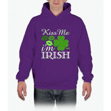 cc06d6bbc Kiss Me I'm Irish St. Patrick's Day Irish T-shirt Hoodie | Products