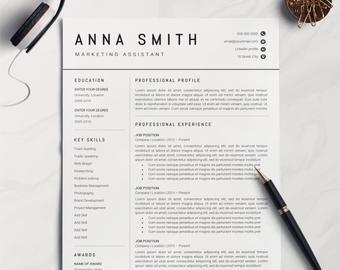 Resume Template Professional Resume Cv Template Modern Etsy Resume Template Professional Resume Template Resume Cv
