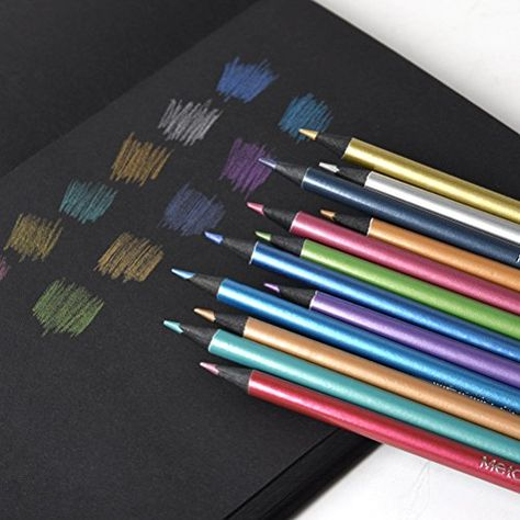 Metallic Non-Toxic Colored Drawing Pencils 12 Color Drawing Sketching Pencil