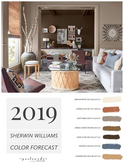 LOVE this warm neutral paint color palette and all the new ones from Sherwin Williams.#paintcolors #paintcolor #colortrends #colorforecast #interiordesign