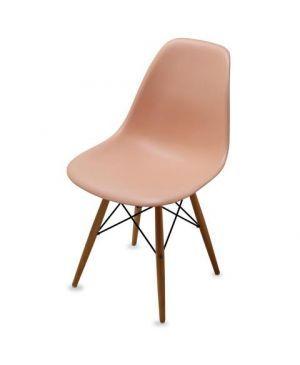 كرسي طاولة طعام زهري برتقالي فاتح Indoor Furniture Furniture Eames Chair
