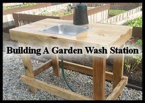 Build A Garden Wash Station Outdoor Sinks Garden Sink Build A Greenhouse