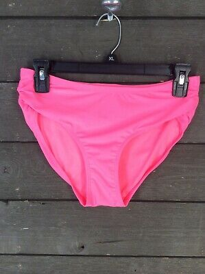 NEW Free Country 4027 Coral  Side Ruched Bikini Brief Swim Women's M #fashion #clothing #shoes #accessories #womensclothing #swimwear (ebay link)