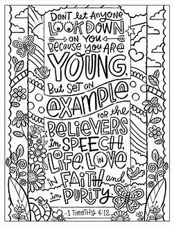 Image Result For 1 Timothy 4 12 Kids Coloring Page 1 Timothy 4