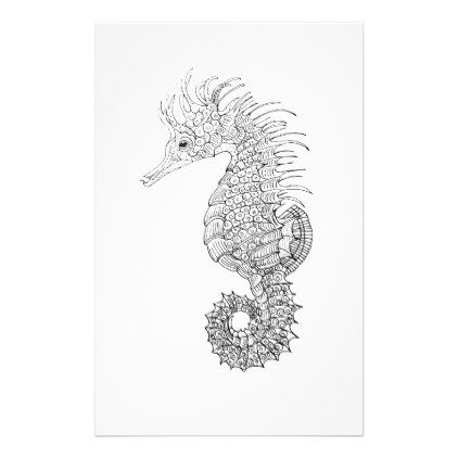 Seahorses Cartoon Postcard Zazzle Com Seahorse Cartoon Horse Cartoon Seahorse Art