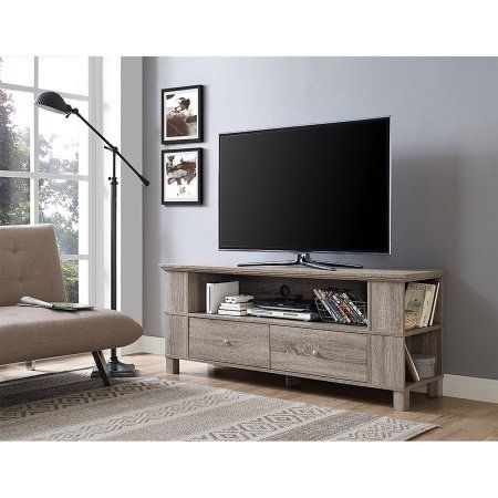 Driftwood Wood TV Stand for TVs up to 65 inch, Beige   Products ...
