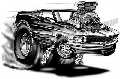 Muscle Cars Forever Muscle Cars Mustang Car Cartoon Art Cars