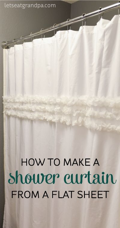 How To Make A Shower Curtain Out Of A Flat Sheet Diy Sew It