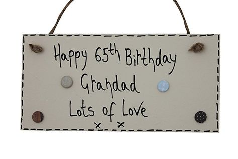 Happy Birthday 60th  Wooden Gift Tag