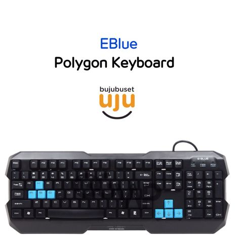 77e9a69d067 Eblue Polygon Keyboard: IDR 179.999