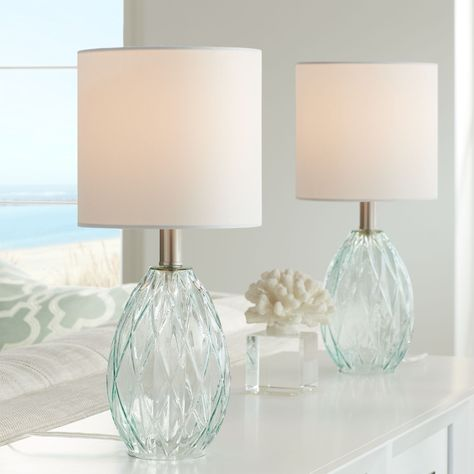 Table Lamps For Bedroom, Table Lamp Sets, Bedside Table Lamps, Bedroom Lighting, Bedroom Furniture, Bubble, Small Accent Tables, Coastal Decor, Modern Coastal