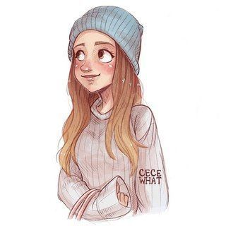 Cute Drawings Of Girls With Brown Hair Cartoon Art Styles