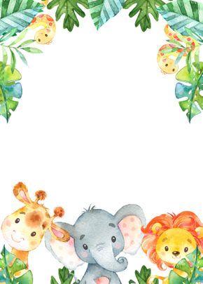Wild One Party Animal Safari Birthday Invitation | Zazzle.com