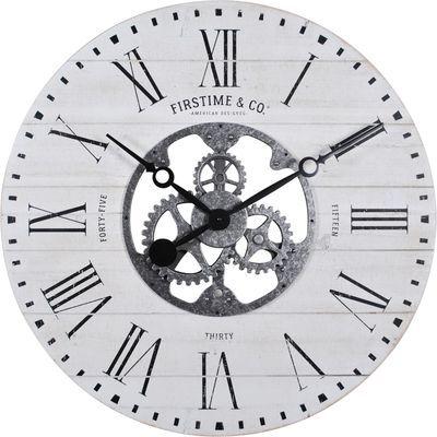 Shiplap Gears Round 27 Wall Clock Gear Wall Clock Wall Clock Faux Shiplap