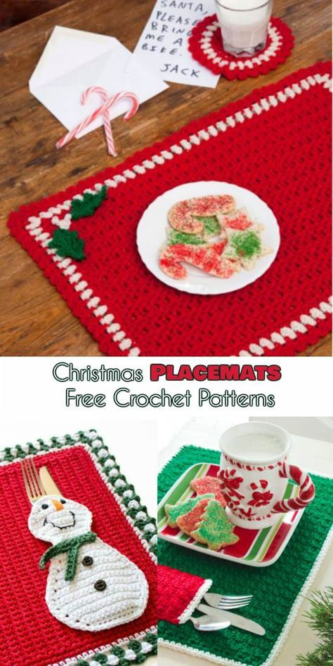 The Best Christmas Placemats Crochet Patterns Crochet Placemat Patterns Christmas Placemats Christmas Crochet Patterns Free