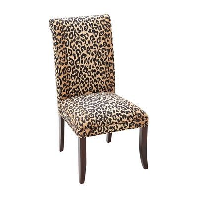 Angela Leopard Print Dining Chair Upholstered Dining Chairs Dining Chairs Dining Room Chairs