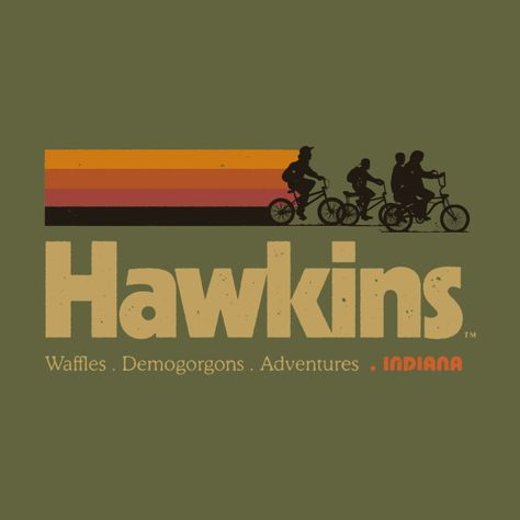 Visit Hawkins Indiana Vintage 80's TV Series