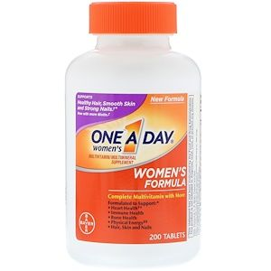 One A Day Women S Complete Multivitamin 200 Tablets Multivitamin One A Day Vitamins Calcium Vitamins