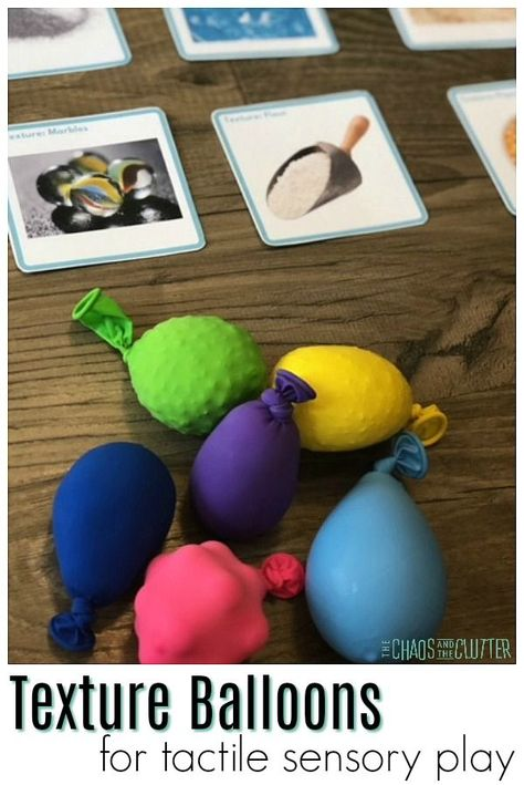 Tactile Sensory Play with Texture Balloons