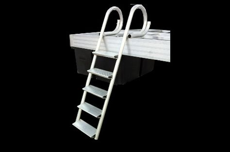 "4 and 5 Step Ladders: Our standard dock ladder has oversized rungs for sturdy footing to provide a safe, secure and comfortable access point for exiting or entering the water. And no other ladder available is as durable nor is as finished looking to complement any quality dock. Threads: Full 16.5"" wide x 6.5"" deep, slip resistant treads for maximum comfort and safety."