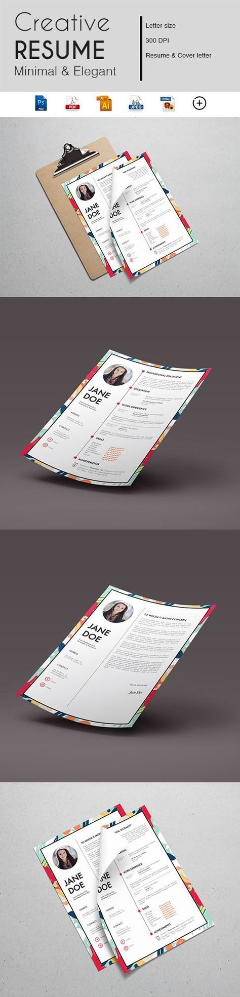 CV Template | Resume | Curriculum Vitae | Digital Print | Resume Template | CV Design | Printable Resume | Graphic Design | Custom Resume