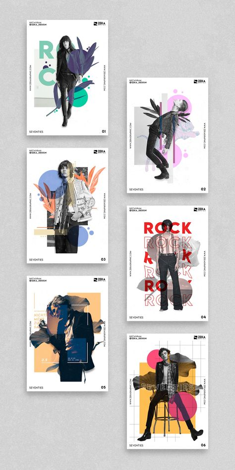 Seventies Rock Music and Fashion Full Poster Design and Graphic Design Project b. - Seventies Rock Music and Fashion Full Poster Design and Graphic Design Project by Zeka Design, mini - Portfolio Graphic Design, Sports Graphic Design, Fashion Graphic Design, Japanese Graphic Design, Vintage Graphic Design, Graphic Design Trends, Graphic Design Layouts, Graphic Design Projects, Graphic Design Posters