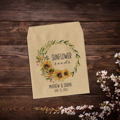 Sunflower Seed Packets, Wedding Seed Packets, #weddingfavours #seedpackets #seedfavors #weddingfavors #weddingseedfavor #woodlandwedding #wildflowerseeds #letlovegrow #letlovebloom #weddingseedpackets #bohowedding #rusticwedding #sunflowerseeds