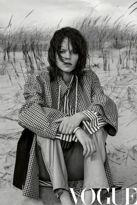 Supermodel Freja Beha Erichsen teams up with fashion photographer Collier Schorr for the cover story of Vogue China's July 2017 edition.