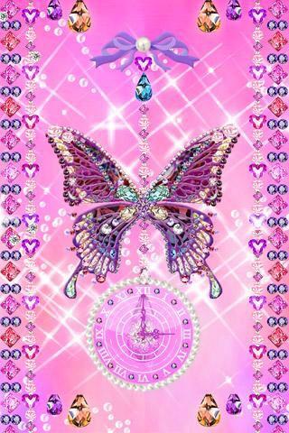Pink Butterfly Bling Bling Wallpaper Glitter Wallpaper Iphone Wallpaper Vintage