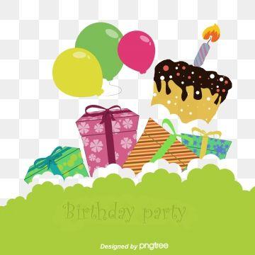 Cartoon Happy Birthday Background Background Clipart Gift Box