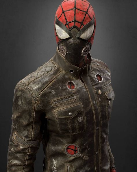 Rate suit from 1 to 10! . Post-Apocalyptic Spider-man by Daniel Johnson . . . #spiderman #spiderverse #TomHolland #marvel #sony #mcu…