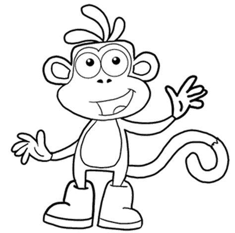 Maymun Boyama Sayfasi Kolay Cizimler Hayvan Boyama Sayfalari Ve