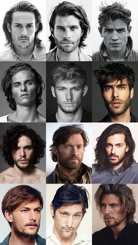 Dishevelled and Rugged Long Hairstyles L Men's Dishevelled and Rugged Long Hairstyles L. Men's Dishevelled and Rugged Long Hairstyles L.