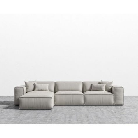 Sandro Porter Sectional Oyster Black Plastic Left Hand Facing 10 915 Sar Liked On Polyvore Featuring Home Furniture Sof Low Sofa Low Couch Modular Sofa