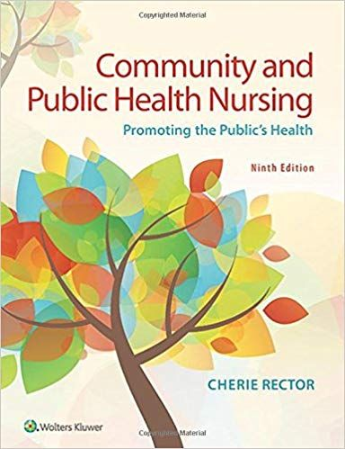 Community Public Health Nursing Promoting The Public S Health