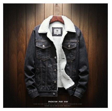 Men's Denim Jacket - Black A / XL
