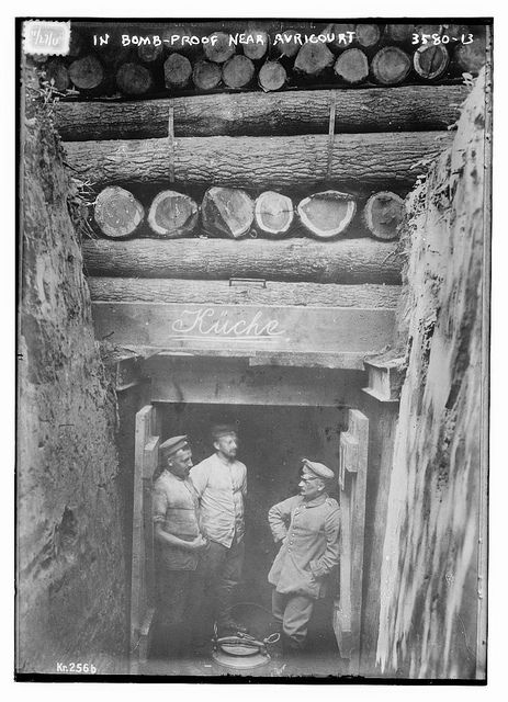 In Bomb-proof near Avricourt (LOC) by The Library of Congress, via Flickr