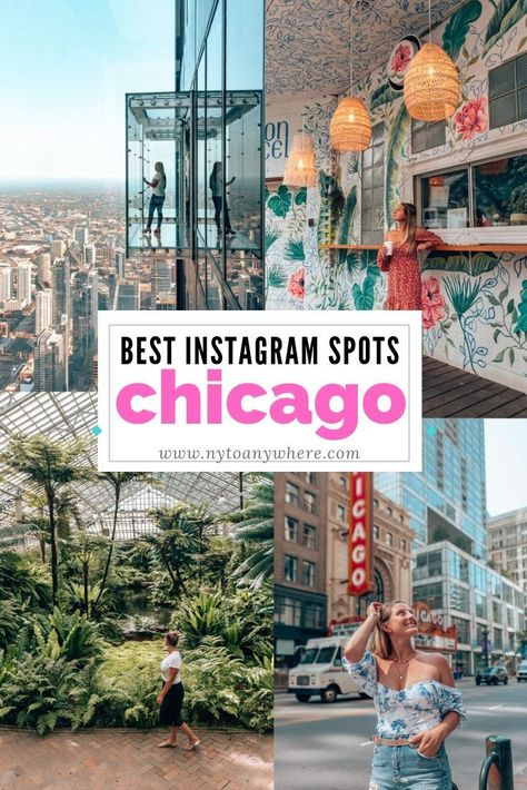 """A guide to the best Chicago Photo Spots. From the super famous """"Cloud Gate"""" structure in Millennium Park to cute cafes and rooftop views. Chicago Things To Do, Places In Chicago, Chicago River, Chicago Photos, Chicago To Do, Chicago In The Winter, Restaurants In Chicago, Chicago In November, Backpacking Tips"""