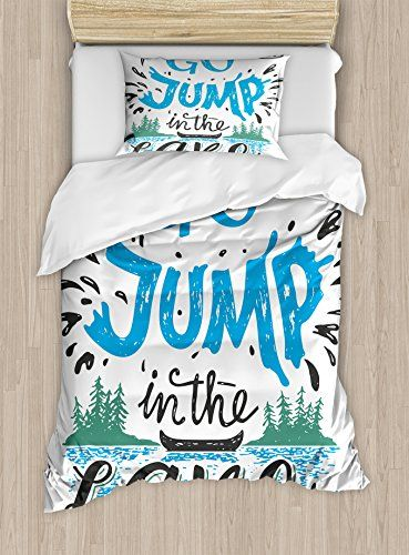 Cabin Decor King Size Duvet Cover Set By Ambesonne Life Is Better At Duvet Cover Sets Decorative Duvet Cover King Size Duvet Covers