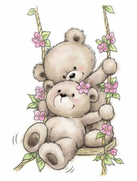 Bear On Swing Ornaments Clear Unmounted Rubber Stamp Wild Rose Studio CL504 New   eBay