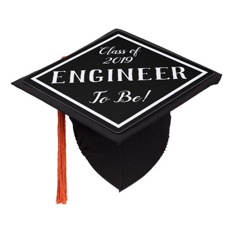 Custom Engineer To Be Graduation Cap Topper #graduation #hat #cap #decorate #grad #ceremony #quote #adventure #college #highschool #diploma #degree