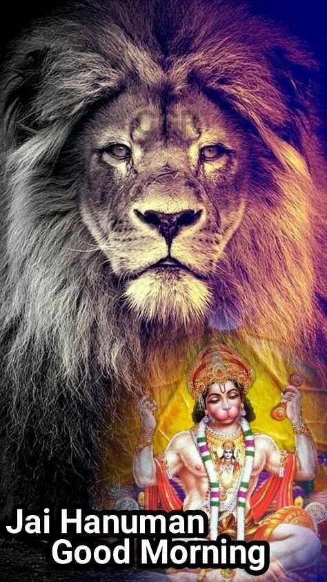 Good Morning Jai Hanuman Good Morning Sharechat Lion Pictures Lion Wallpaper Cat Phone Wallpaper