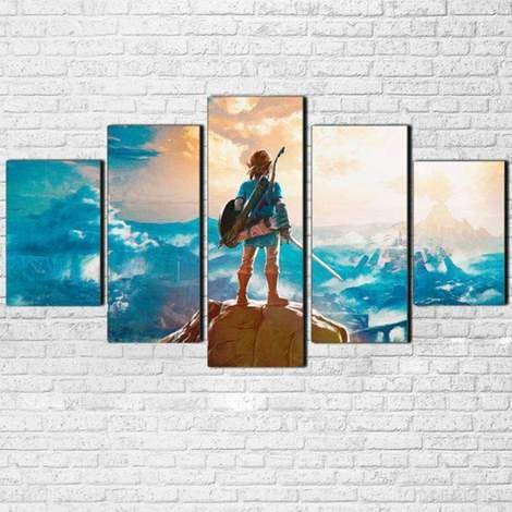 Legend Of Zelda Wall Art Breath Of The Wild Canvas Art Wall Decor Wall Art Canvas Painting Canvas Wall Art