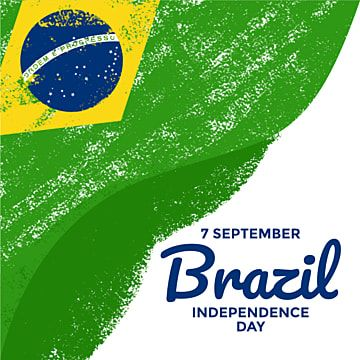 Brazil National Flag With Paint Brush Effect Can Be Used For Brazil Independence Day Banner Poster Greeting Card Social Media Post Print Invitation Flag Count Independence Day Holiday Symbols Social Media