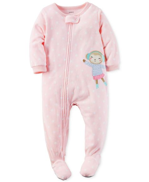 176caa7ae9 Carters Baby Girls One Piece Footed Fleece Pajamas (18 Months ...