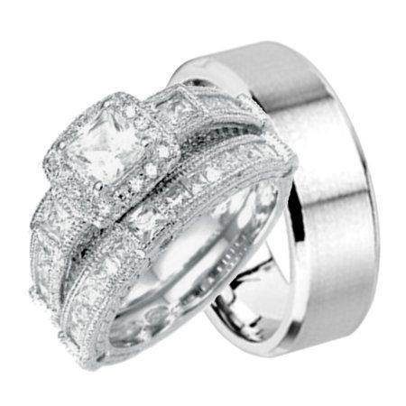 Walmart Wedding Rings Sets For Him And Her Walmart Wedding Rings Wedding Ring Sets Wedding Rings