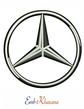 Mercedes Benz Car Logo Embroidery Design To Instant Download With