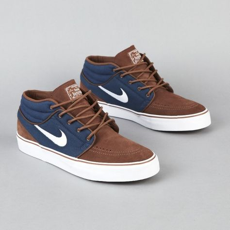 Nike SB Stefan Janoski Mid - Dark Slate/Sandalwood-Medium Brown-Gum - Now Available Tenis Casual, Casual Sneakers, Casual Shoes, Sneakers Nike, Jordan Sneakers, Jordan Shoes, Me Too Shoes, Men's Shoes, Shoe Boots