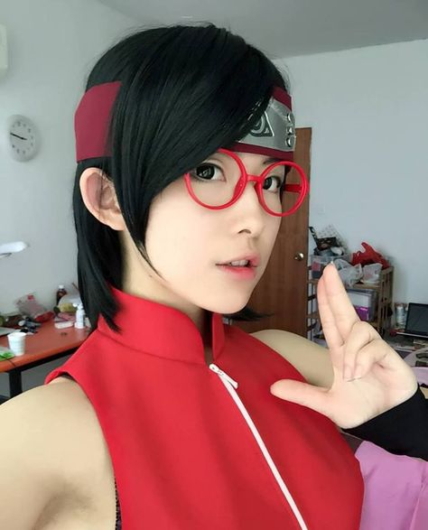 Cosplay Anime Sarada cosplay,so cute.