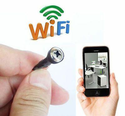 Wireless Spy Tiny IP WIFI Mini DIY Pinhole Hidden Audio Video Camera Micro DVR